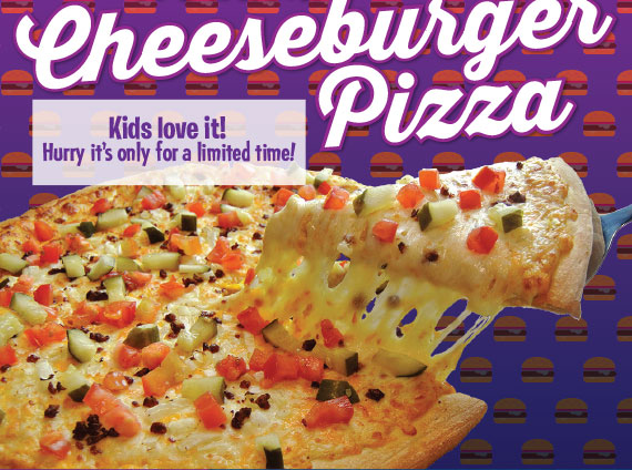 It's back! Cheeseburger Pizza! Hurry, it's only for a limited time!