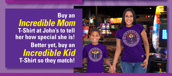 Buy an Incredible Mom T-Shirt to tell he how special she is! Better yet, buy an Incredible Kid T-Shirt so they match!