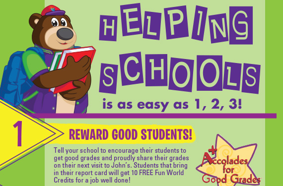 Helping Schools is as Easy as 1-2-3! 1) Reward Good Students!