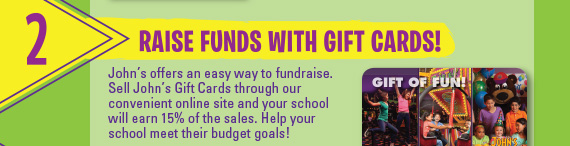 2) Raise Funds with Gift Cards!
