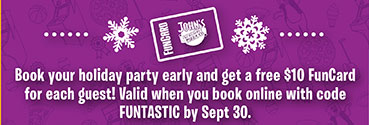 Valid when you book online with code FUNTASTIC by Sept. 30.